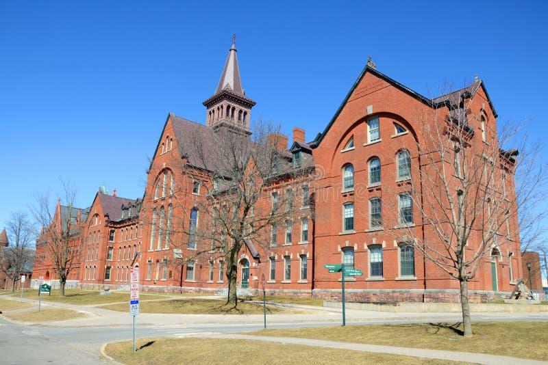 Gammalt mala, universitetet av Vermont, Burlington royaltyfri fotografi
