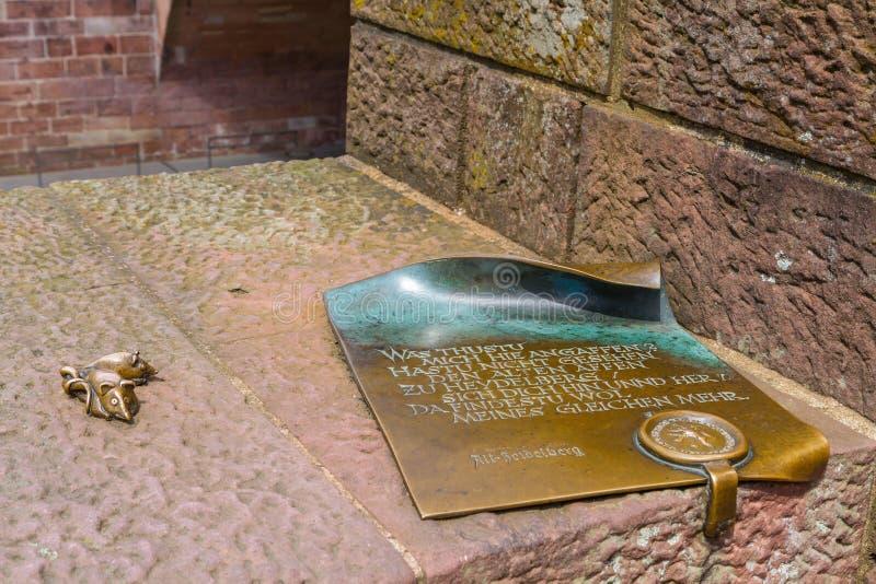 Gammalt manuskript på den gamla bron royaltyfria foton