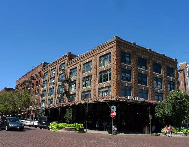 Gammalt marknadsområde, Omaha, Nebraska arkivfoton