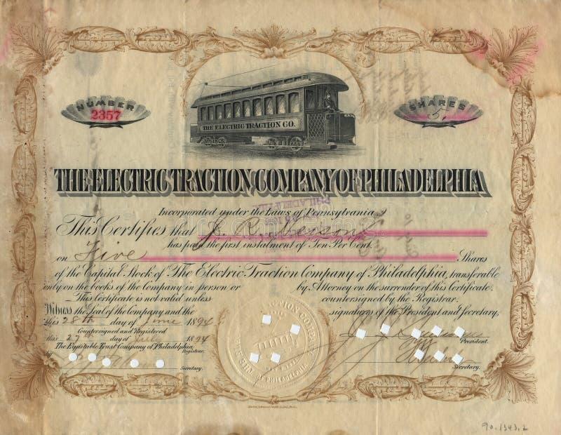 gammalt materiel för 3 certifikat arkivfoton