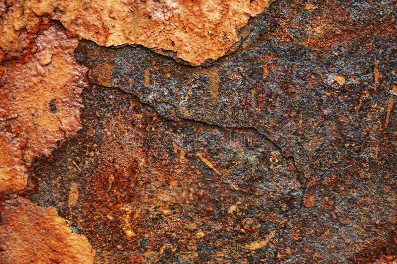 Gammalt metallark av järn med rostabstrakt begreppbakgrund fotografering för bildbyråer