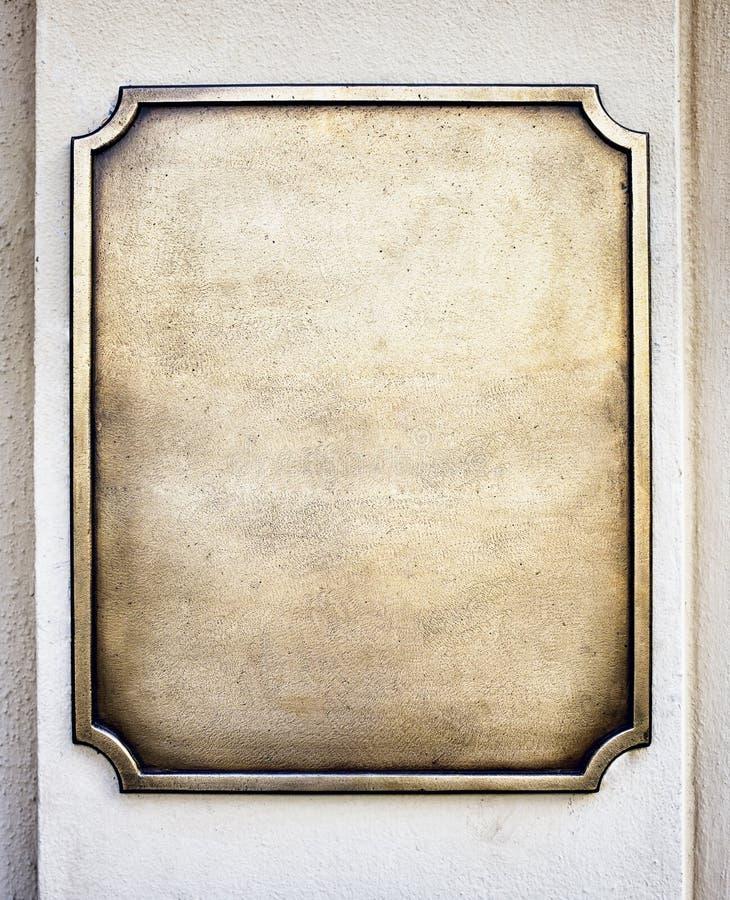 Gammalt metalltecken royaltyfri bild