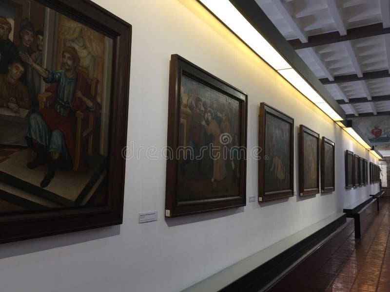 Gammalt museum i Manila royaltyfri fotografi