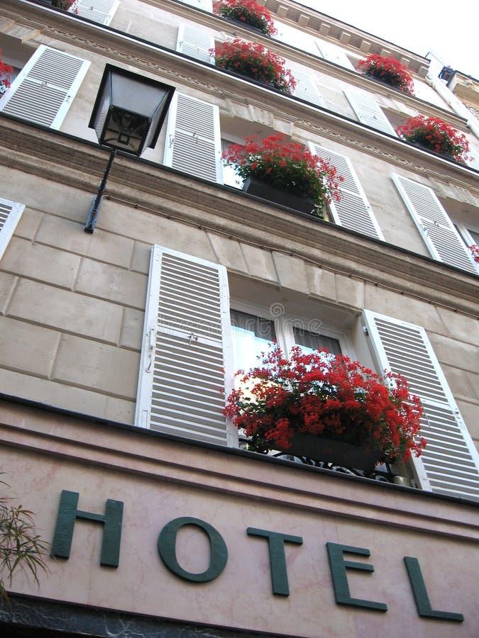 Gammalt mysigt hotell arkivbild
