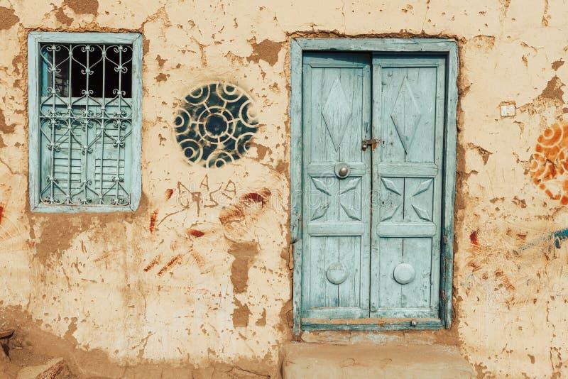 gammalt Nubian hus arkivbild