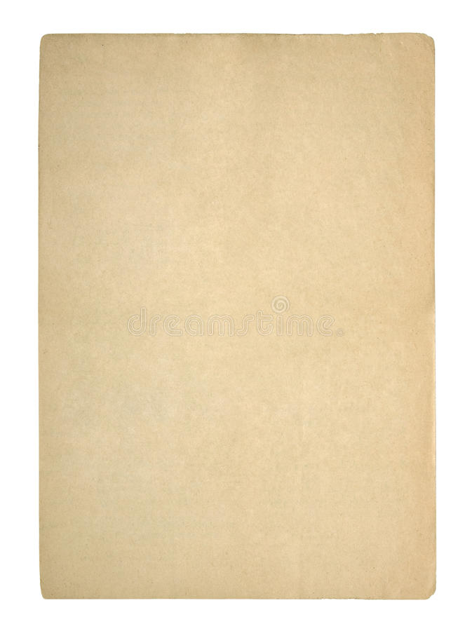 gammalt paper ark arkivfoton