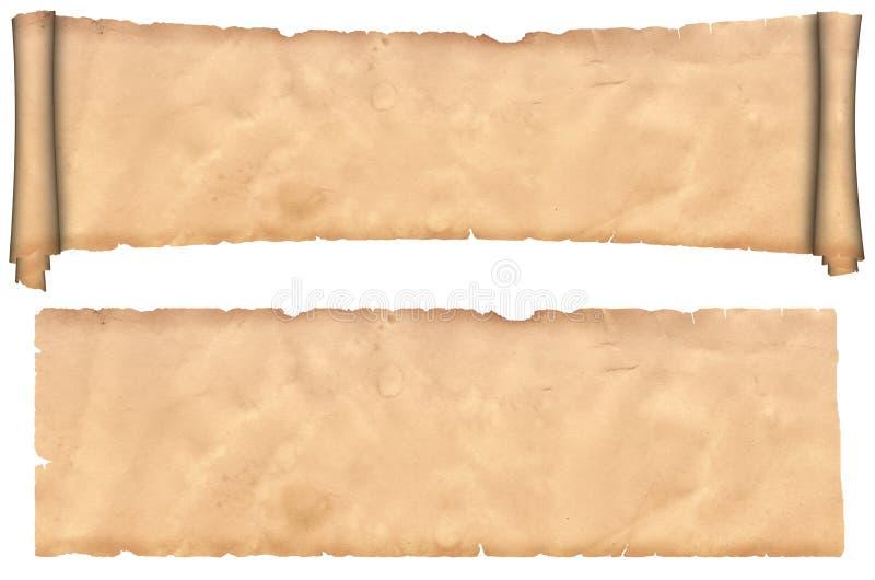 gammalt paper scrollark royaltyfri fotografi