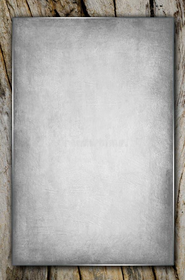 gammalt paper trä arkivbild