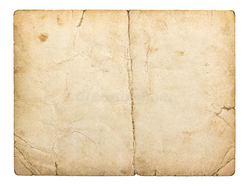 Gammalt paperboardkort arkivbilder