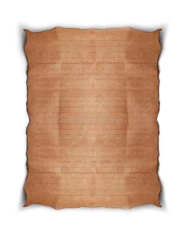 gammalt papper royaltyfri illustrationer