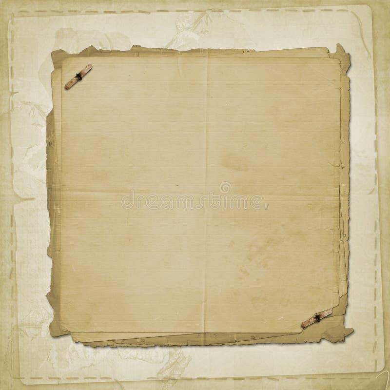 gammalt papper för alienerad räkning stock illustrationer