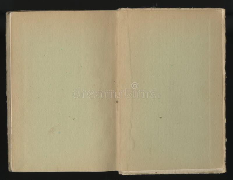 Gammalt papper för Grunge för skattöversikt eller tappning uppvecklat mörkt papper för bok som smetas fotografering för bildbyråer