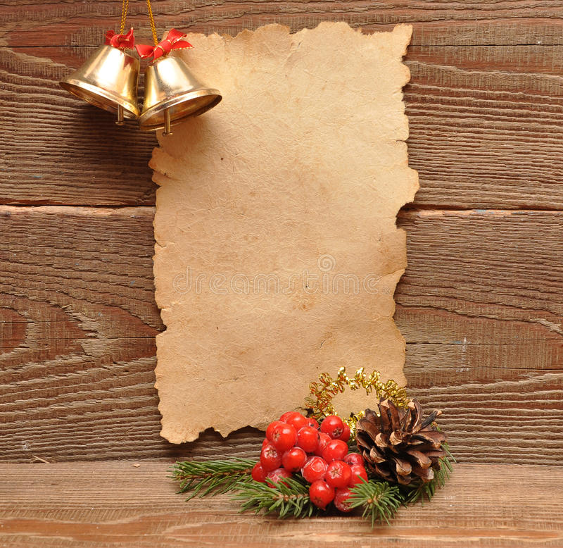 gammalt papper för julgarnering arkivfoton