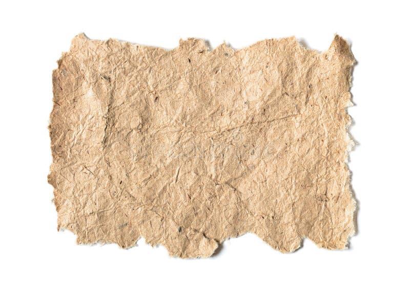 Gammalt papper med ungefärliga kanter royaltyfria foton