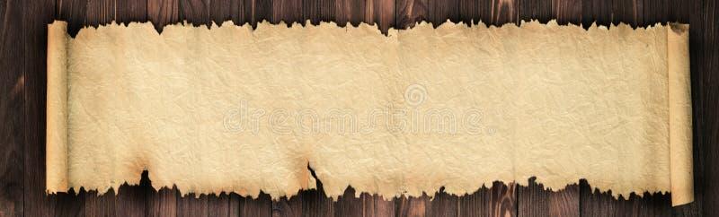 Gammalt papper på tabellen som en bakgrund för text royaltyfri fotografi