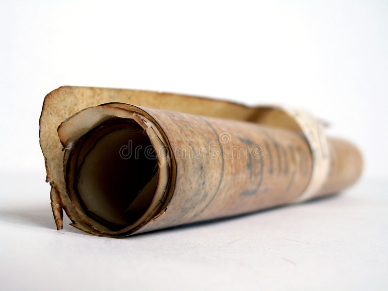 gammalt papper rullande scroll arkivfoton