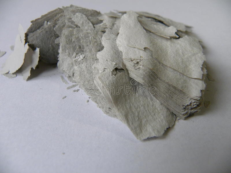 Gammalt papper som bränns fullständigt royaltyfri bild