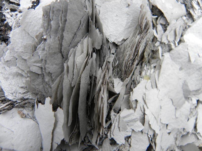 Gammalt papper som bränns fullständigt royaltyfria foton