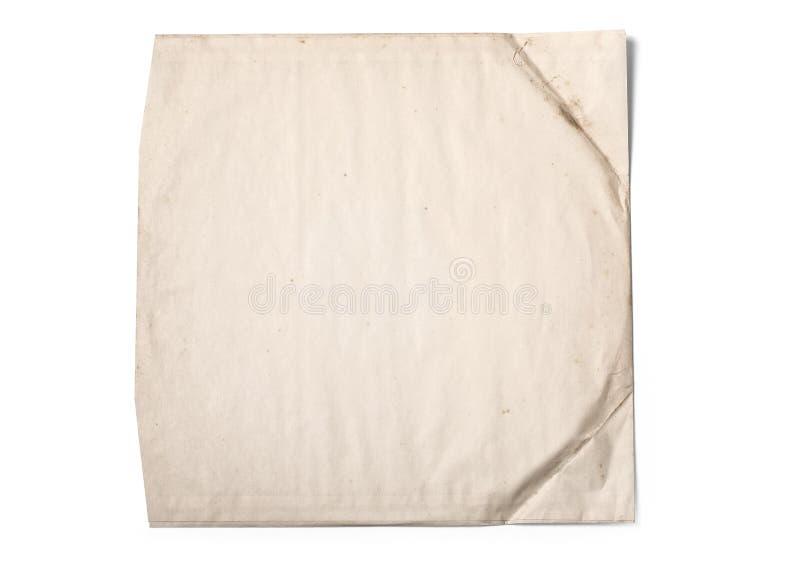 Gammalt pappers- fall för vinylrekord royaltyfri foto