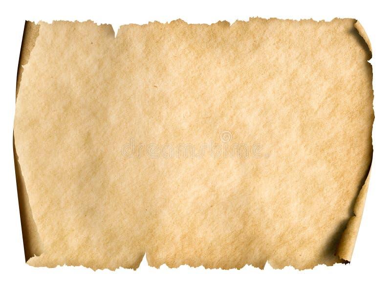 Gammalt pappers- manusript eller pergament som orienteras horisontellt royaltyfri bild