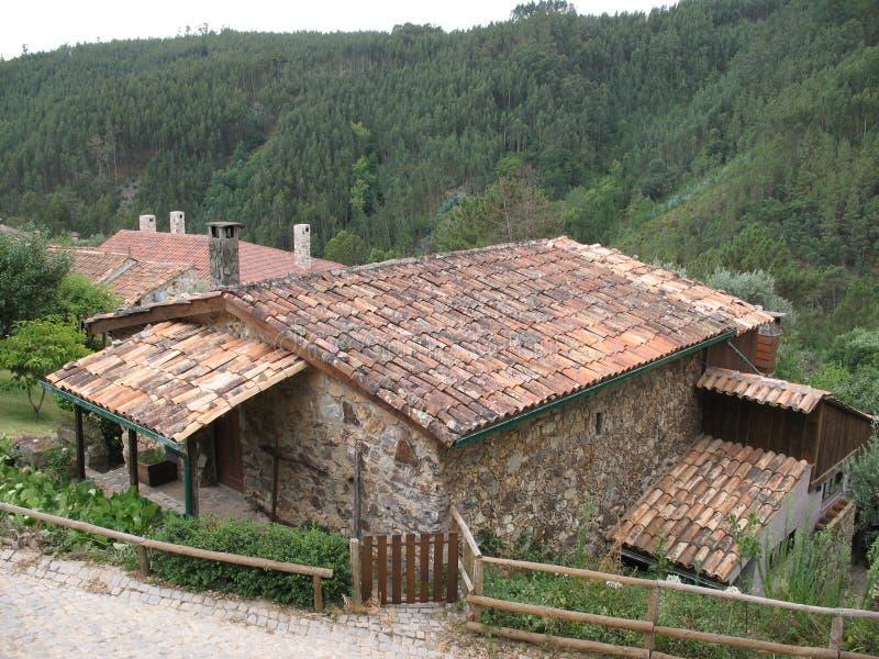 Gammalt portugisiskt hus arkivbild