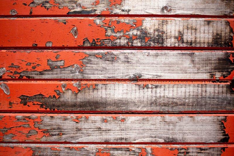 gammalt rött texturträ royaltyfria foton
