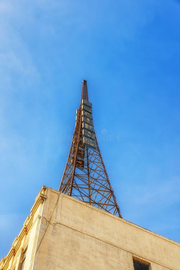 Gammalt radiotorn fotografering för bildbyråer