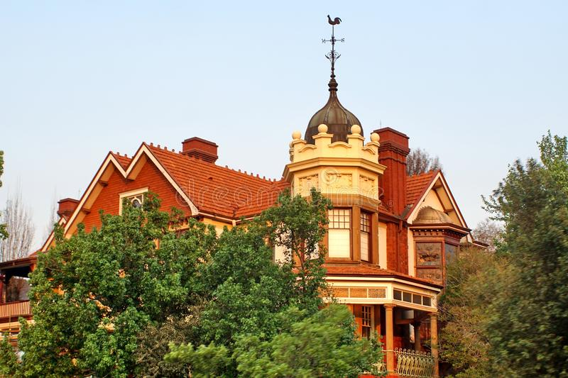 Gammalt Rand Lord hus i Johannesburg royaltyfri foto