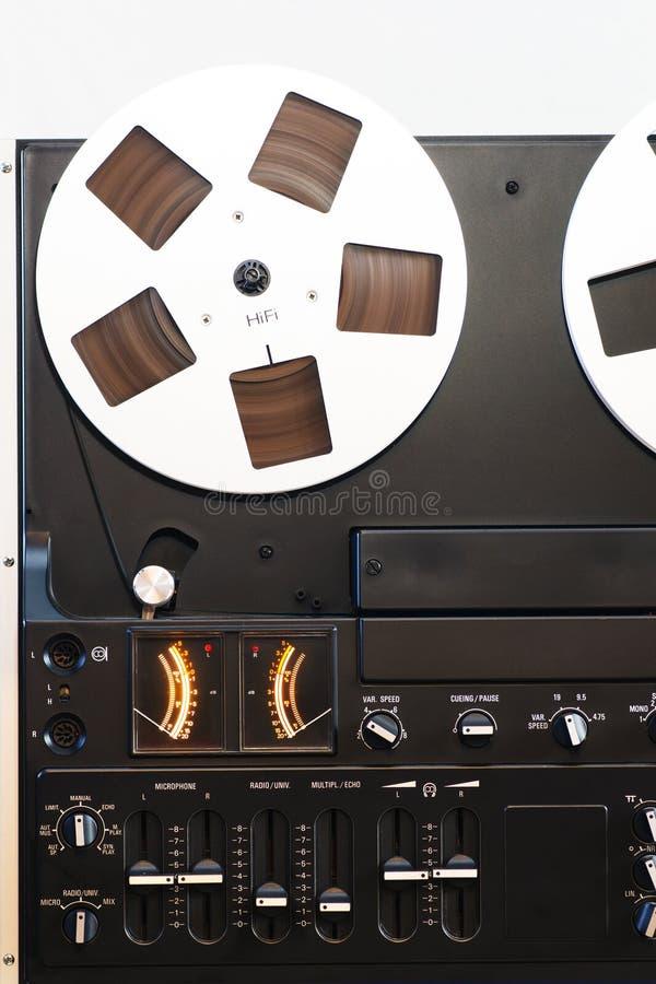 gammalt registreringsapparatband arkivbilder