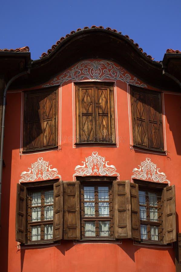 Gammalt renässanshus arkivbild