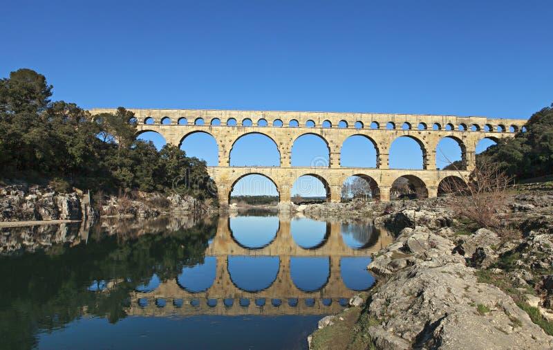 gammalt roman för bro arkivfoton