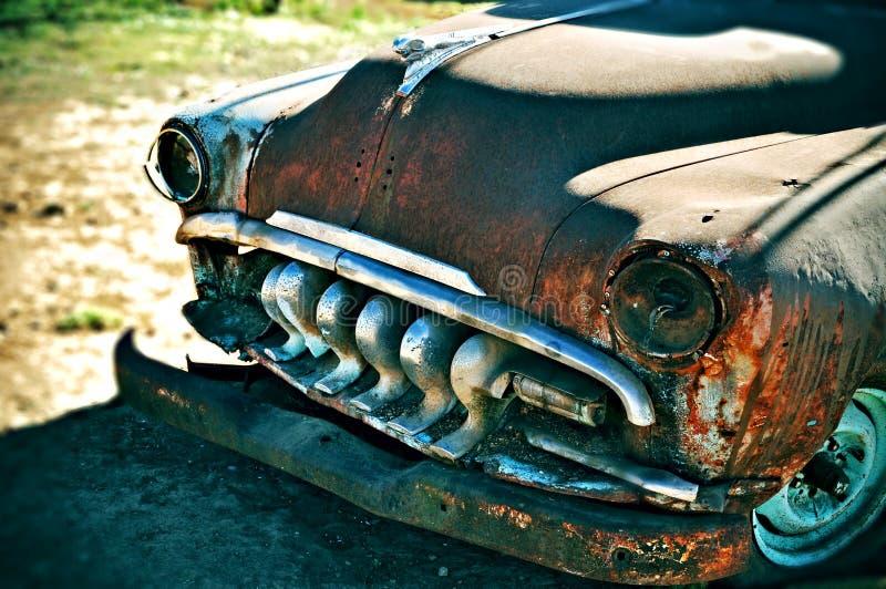 gammalt rostigt för bil royaltyfri foto
