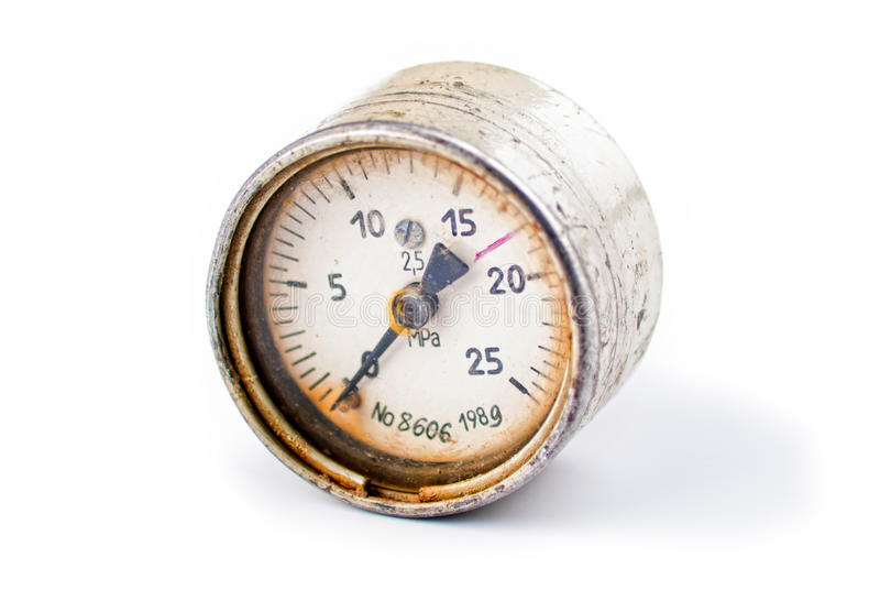 gammalt rostigt för gauge arkivbild