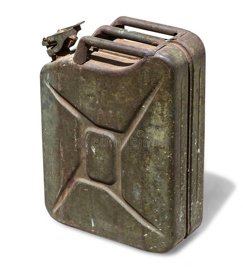 gammalt rostigt för kanister arkivfoton