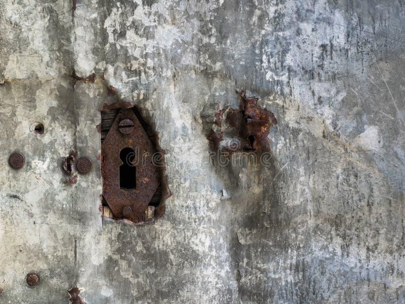 gammalt rostigt för keyhole fotografering för bildbyråer