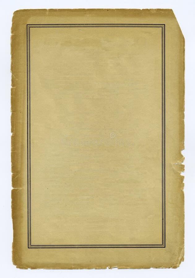 gammalt slitage paper arkivbild