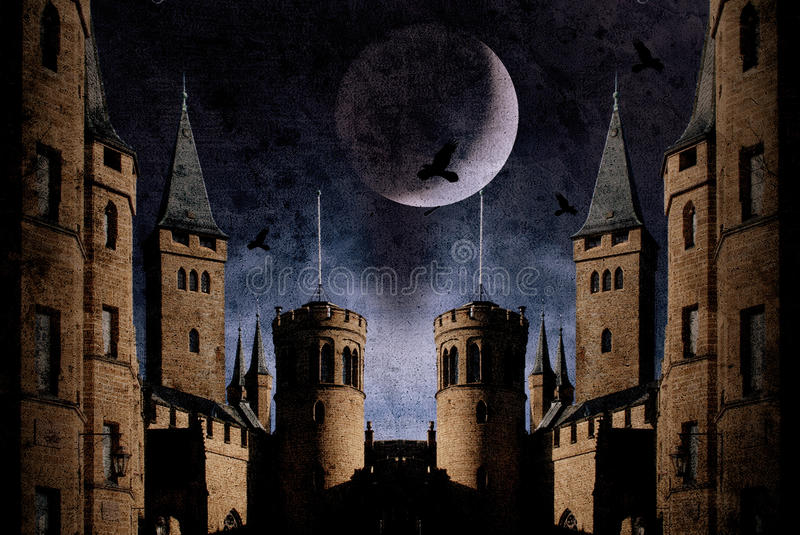 gammalt slott royaltyfri illustrationer