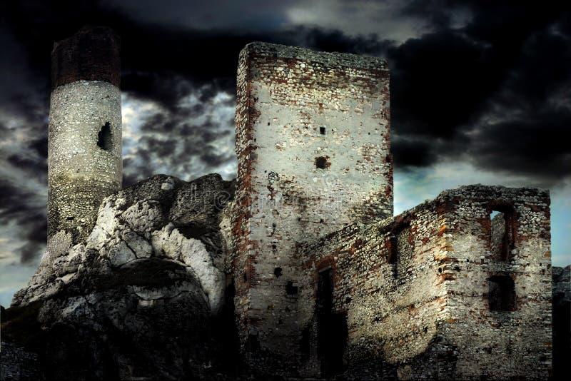 gammalt slott royaltyfri foto
