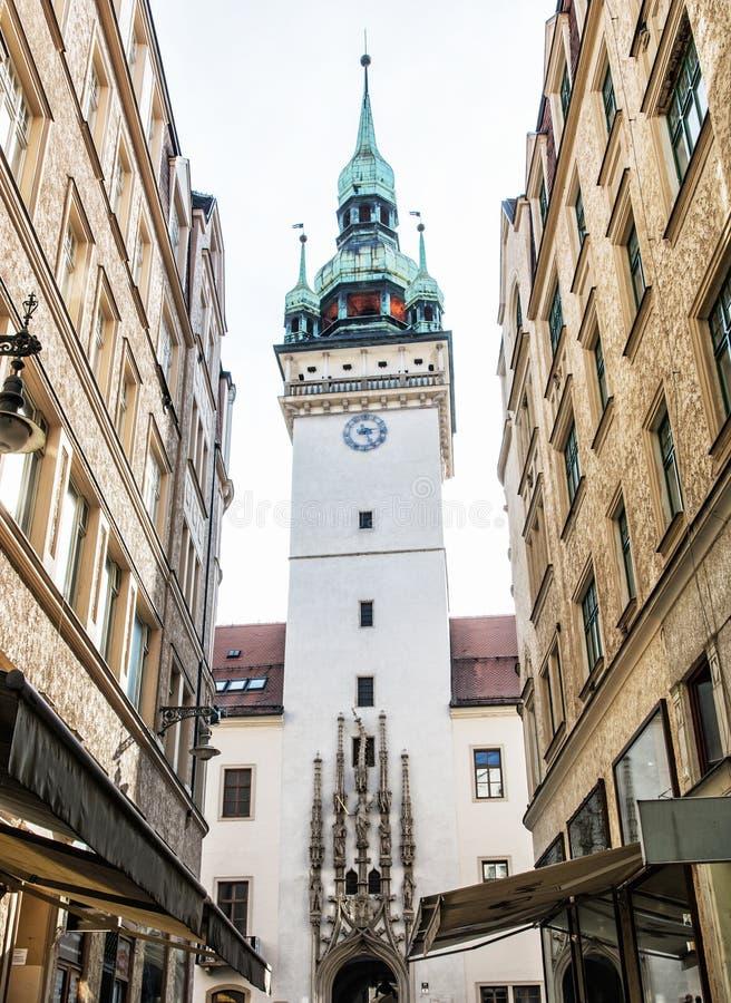 Gammalt stadshus i Brno, Tjeckien royaltyfri bild