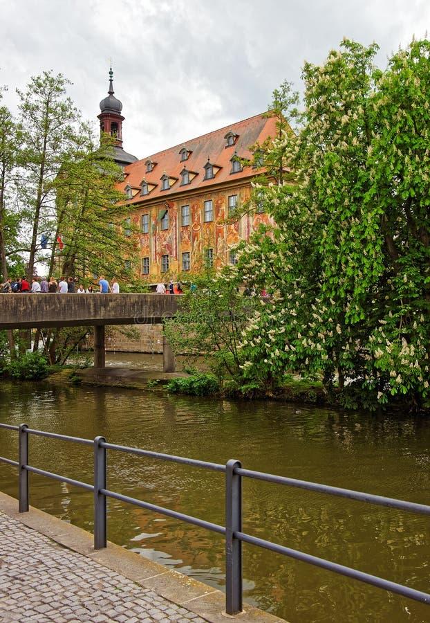 Gammalt stadshus i det Bamberg centret royaltyfri foto