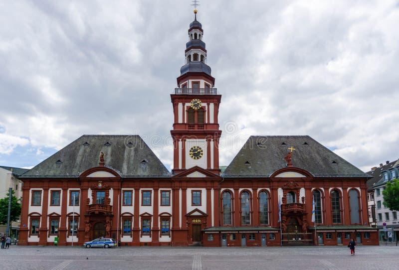 Gammalt stadshus i Mannheim, Baden-Wurttemberg, Tyskland royaltyfria foton