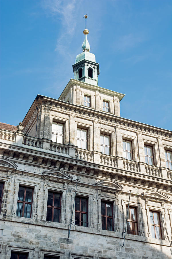 Gammalt stadshus i Nuremberg royaltyfria foton