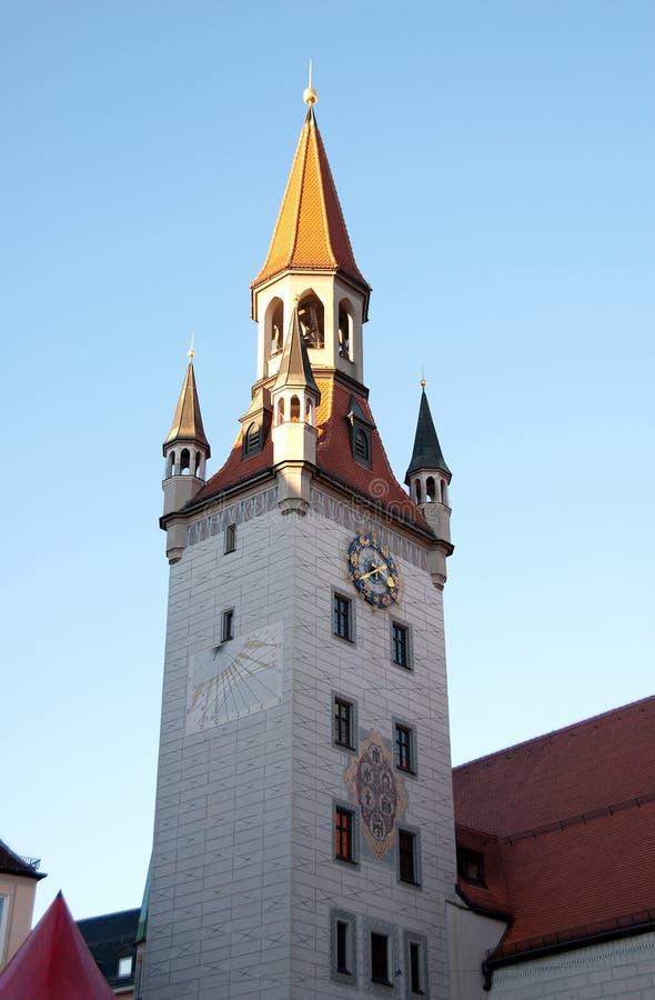 Gammalt stadshus, Munich, Tyskland arkivfoton
