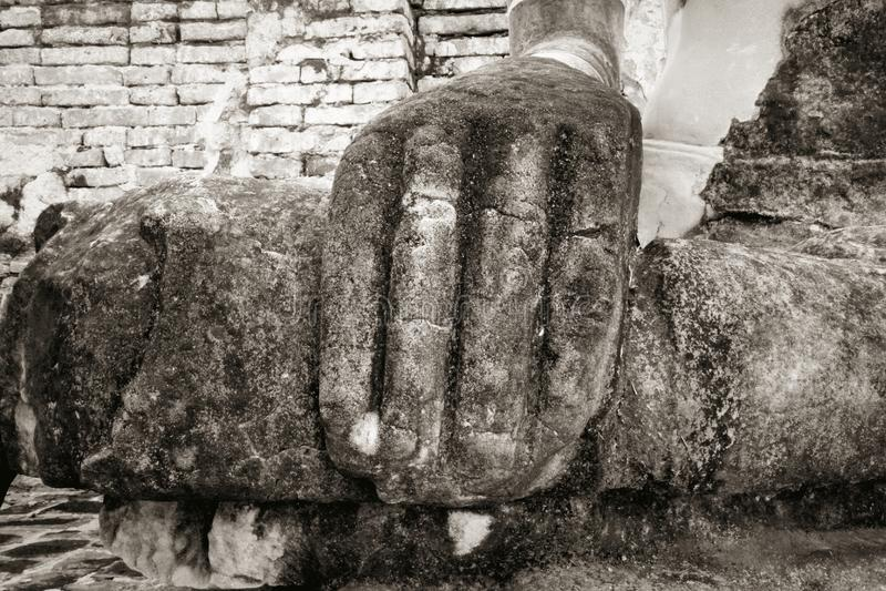 Gammalt svartvitt för Buddha royaltyfri foto
