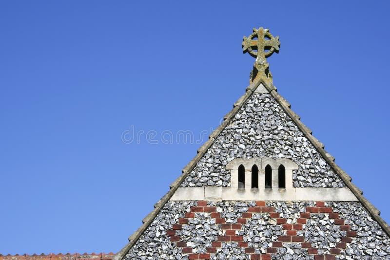 gammalt tak för kyrklig england hertforshire arkivbild
