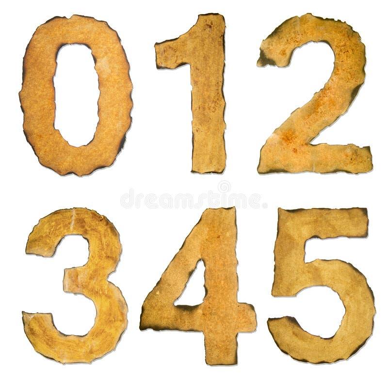 Gammalt tappningnummer 012345 arkivbilder
