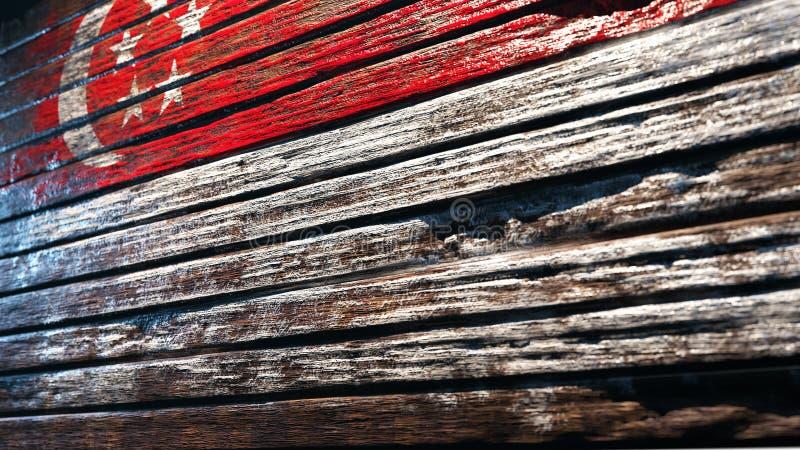 gammalt texturtr? f?r bakgrund stock illustrationer