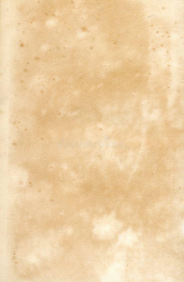 Gammalt 19th århundradepapper royaltyfri bild