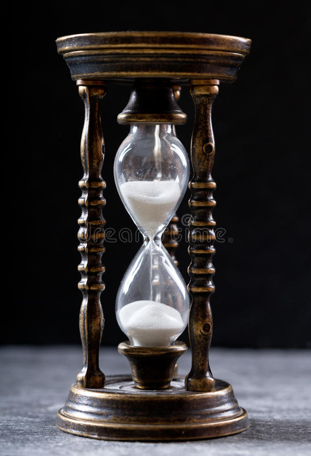 gammalt timglas royaltyfri bild