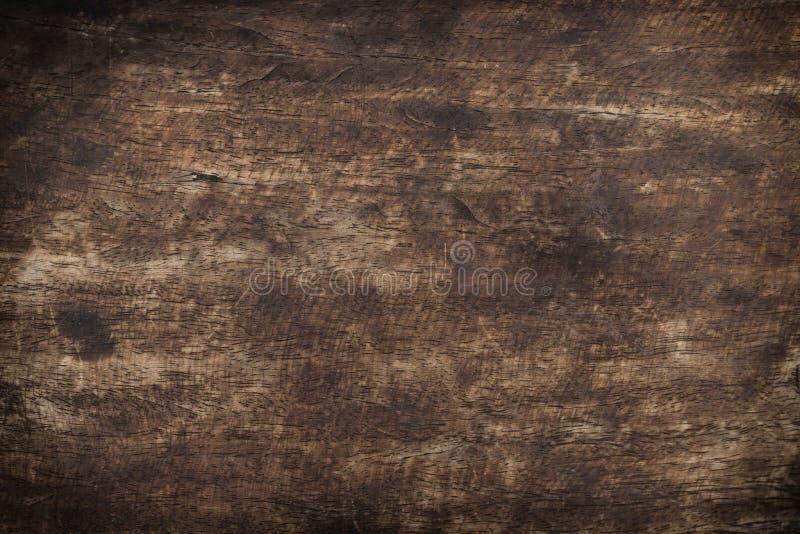 Gammalt trä använde brun paneltexturbakgrund royaltyfri fotografi